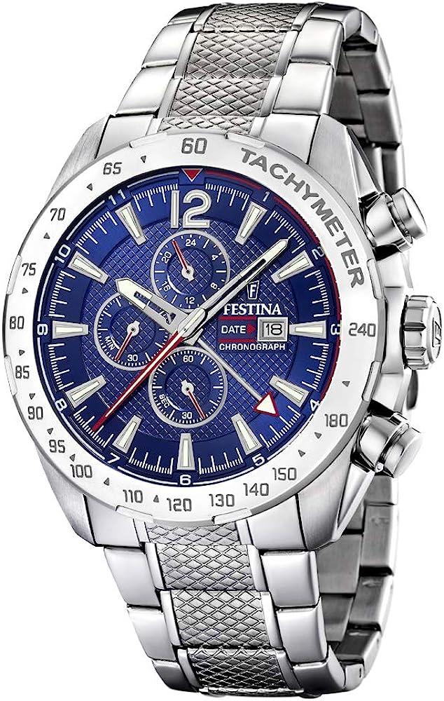 Festina orologio cronografo da uomo  in acciaio inossidabile F20439/2