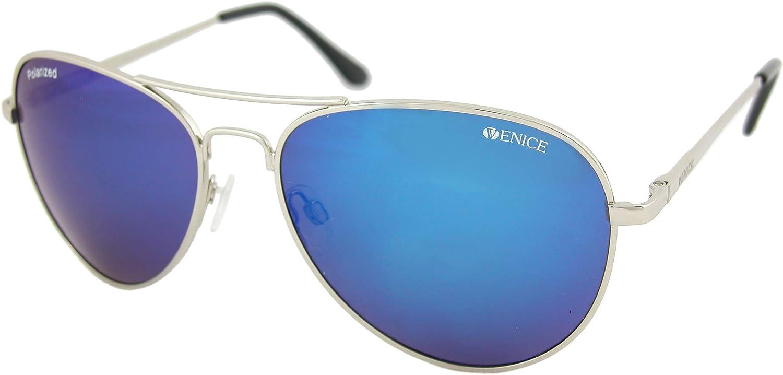 VENICE EYEWEAR OCCHIALI Gafas de sol Polarizadas PILOTO - protección 100% - POLARIZADAS y 100% Protección UV400: Lentes que bloquea 100% los rayos UVA y UVB