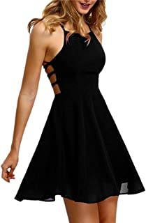 Kleid Damen,Binggong Frauen Mode Party Cocktail Backless Bandage ärmelloses Versuchung Minikleid Kurze Brautjungfern Party Kleid