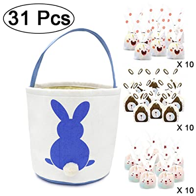 West Bay Easter Baskets Bags, 1Pcs Easter Egg B...