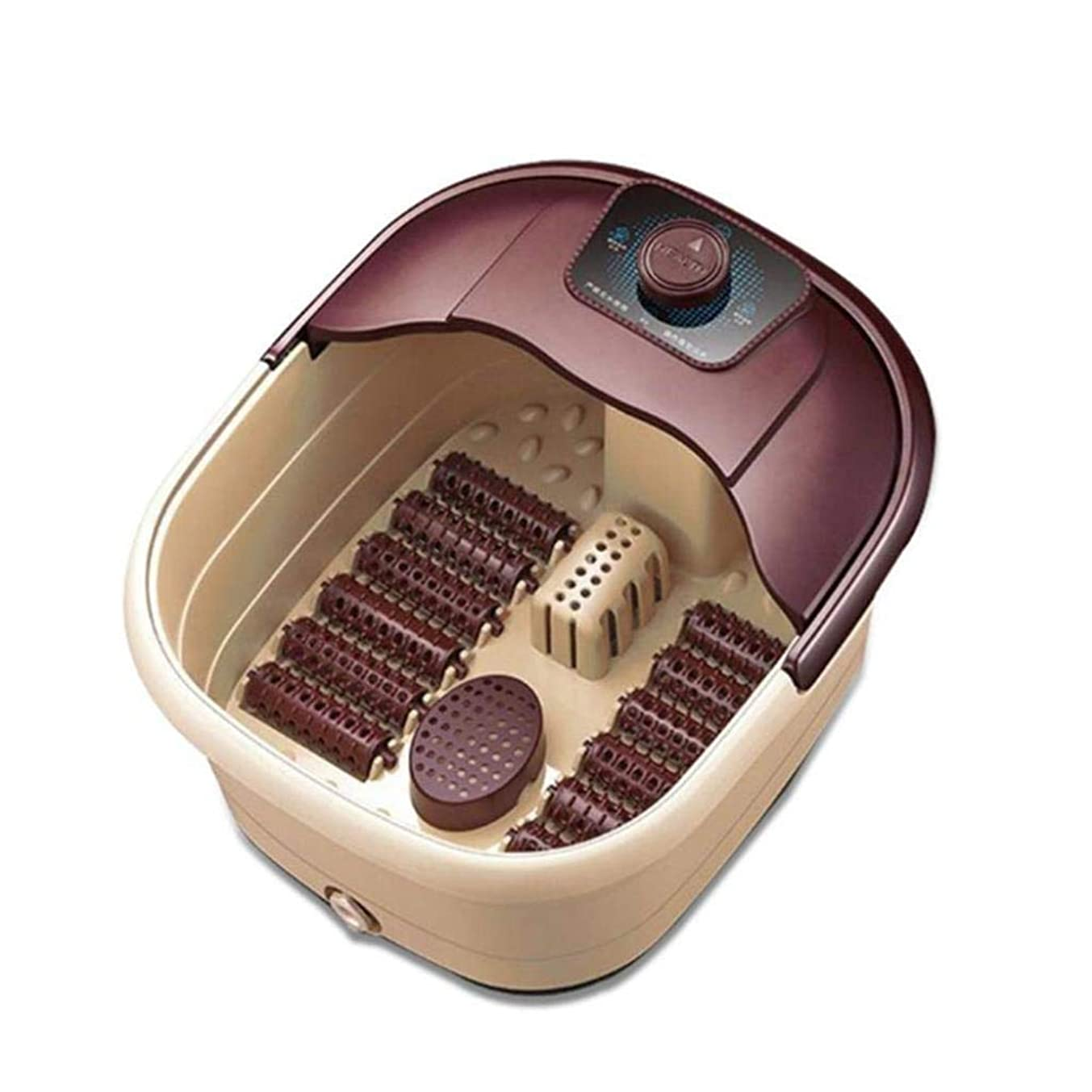 満州気づく入り口電動フットマッサージャー、マッサージャーバケット、電動フットスパ/バスマッサージマシン、高温温度制御ローリング、フットケアおよびストレスリリーフ用