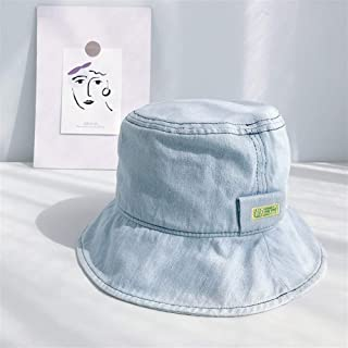 OULUOBA 2019 new South Korean pots hat with a large brim hat section cowboy hat female sun visor cap influx of male personality (Color : Light blue, Size : One size)