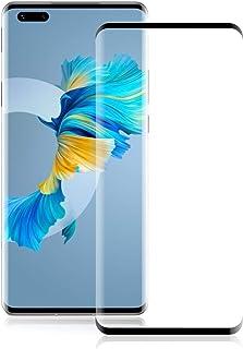 ROVLAK Skärmskydd för Huawei Mate 40 Pro härdat glas skärmskydd full täckning reptålig anti-fingeravtryck skyddande filmsk...
