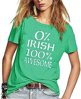 Gnpolo Unisex St Patricks Day Shirt Womens Funny Casual Short Sleeve T-Shirt Mens Tee Tops
