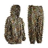 KINJOHI 3D Ghillie Tarnanzug Dschungel Ghillie Suit Woodland Camouflage Anzug Kleidung Für Jagd