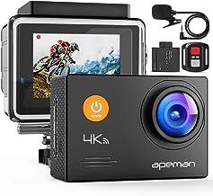 APEMAN A79 4K Action Camera 20MP WiFi External Microphone...