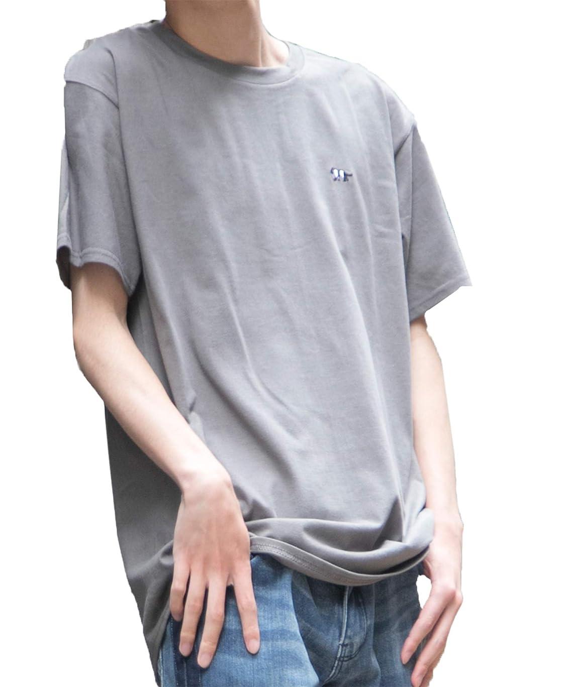ピッチ漂流ランプ[セカンドルーツ] ストライプジャガー 半袖 メンズ ユニセックス ジャガー刺繍 綿 カットソー ストライプ ジャガー Tシャツ
