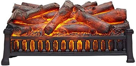 BBZZ Chimenea ornamental eléctrica chimenea de carbono desnuda sin calefacción estufa de decoración LED con llama de combustión 3D simulada. chimenea electrónica con efecto de combustión de carbono