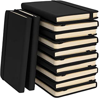 """Simply Genius (12 Pack) A6 Leatherette Journals to Write in for Women, Faux Leather Journal for Men, Writing Journal Notebook Lined, 144pg Ruled, 3.7"""" x 5.7"""""""