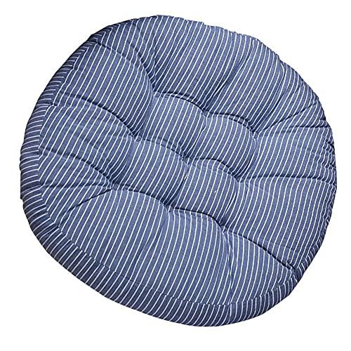 Pillowcase 123 Almohadillas de Asiento, cojín Redondo, Suave y Grueso, cojín Acolchado para Silla, cojín cómodo para Silla, cojín de Alivio de presión para Comedor, jardín, 2 Piezas