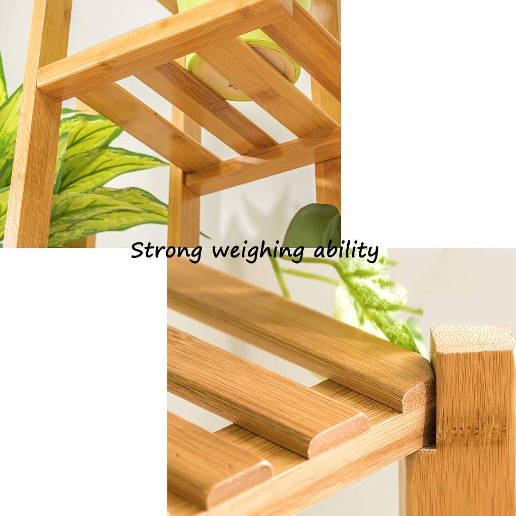 Estante de almacenamiento Estante para zapatos Estante para plantas Exhibidor de flores Estante para flores Antiséptico de bambú en interiores y exteriores Rack 6 Tamaño del piso 45x22x125 Cm: Amazon.es: Hogar