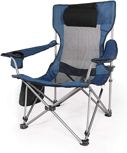 Hxx Chaises de Camping Pliantes, chaises ultralégères extérieures portatives avec accoudoir pour Porte-gobelets pour Camp extérieur, Voyage, Festival, randonnée pédestre, randonnée légère,A