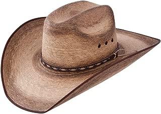 Mens Amarillo Sky Palm 4 1/8 Brim Straw Cowboy Hat