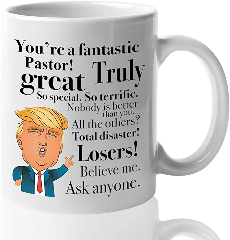 Donald Trump Coffee Mug 11 Oz Tea Cup Gift Ideas For Pastor Birthday Christmas President Conservative Republican