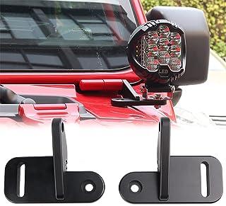 Linya JL A Pillar Light Mounting Bracket for Jeep JL Wrangler 2018 2019 2020 2021,Black