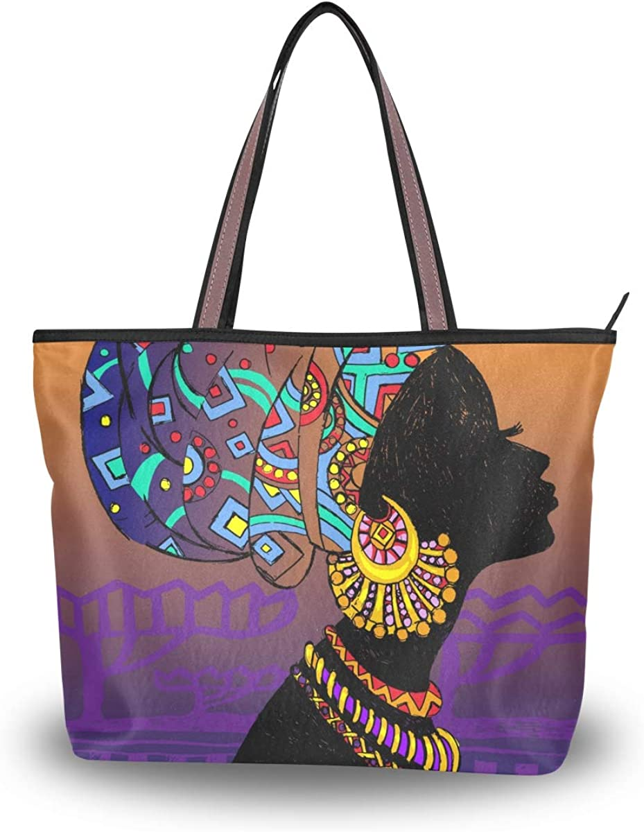Miami Mall Be super welcome Woman Tote Bag African American for Shoulder Work Handbag