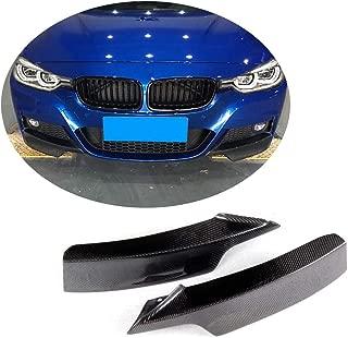 MCARCAR KIT Front Bumper Splitter fits BMW 3 Series F30 M Sport Sedan 2012-2018 Factory Outlet 320i 325i 328i 330i 335i 340i M-tech Auto Carbon Fiber CF Winglets Vents Cover Cupwings Flaps Spoiler