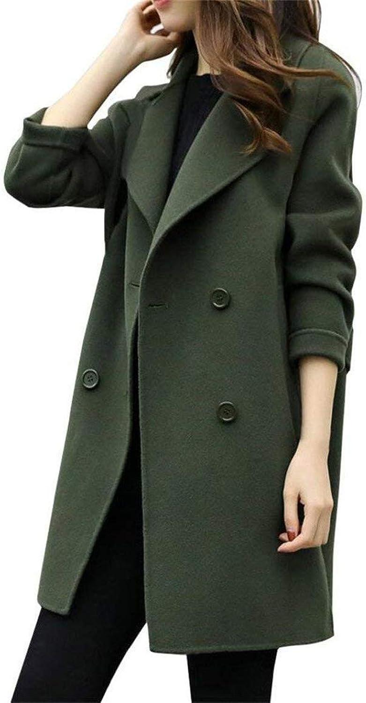 Kulee Womens Fashion Warm Coat Jacket Long Slim Coat for Autumn Winter
