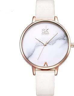 SHENGKE Creative Simplicity Women Watch Genuine Leather Elegant Women Watches Ladies Business Wristwatch