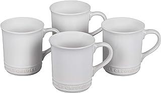 Le Creuset Stoneware Set of 4 Mugs, 14 oz. each, White