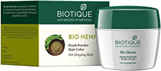 Biotique Bio Henna Fresh Powder Hair Color For Greying Hair 90gm [Misc.]