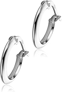 8a0baacc025d Orovi pendientes de mujer aros en oro blanco 18 kilates ley 750