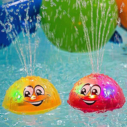 YIDAINLINE Schwimmende Badespielzeug FüR Babys Pool Spielzeug Kinder Mit Licht Kann Schweben Und Sich Mit Brunnen Drehen Badewanne-Dusche-Pool Badezimmer-Spielzeug FüR Babys Kleinkinder Kinder-Party