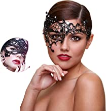Masquerade Mask Women Shiny Rhinestone Venetian Party Prom Ball Metal Mask