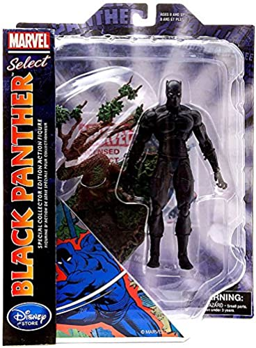 Marvel Disney Select noir Panther 7 Action Figure (Special Exclusive Edition)