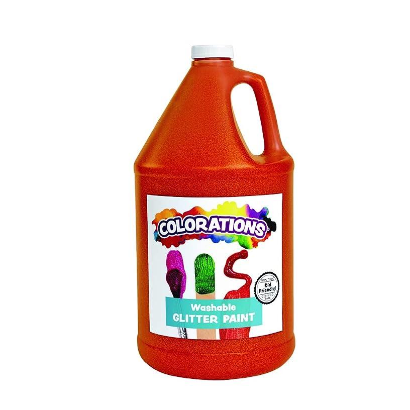 Colorations GPGOR Washable Glitter Paint, Orange - 1 gal