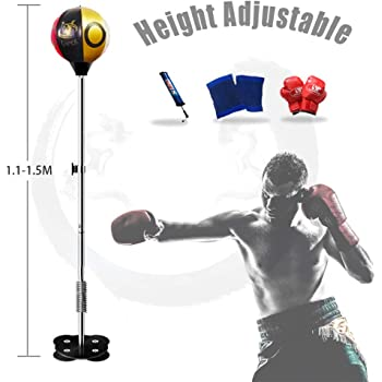 Color : Black YUN HAI Professional Heavy Stand Punching Bag with 360/° Reflex Bar Strong Suction Cup Base Portable Training Target Adjustable Boxing Speed Ball for Adult /& Kid