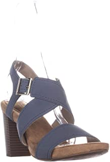 Giani Bernini GB35 Jenett Block Heel Ankle Strap Sandals, Black