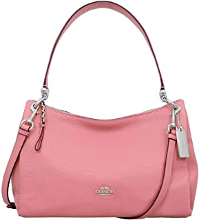 9ec78d9c3d2 Coach Womens Refined Pebbled Leather MIA F28966 Shoulder Bag Coral Pink