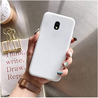 Candy Color Silicone Phone Case On for Samsung Galaxy J7 J6 J5 J4 J3 J2 Pro Core 2018 2017 2016 2015 TPU Back Cover Coque,J6 Plus,White