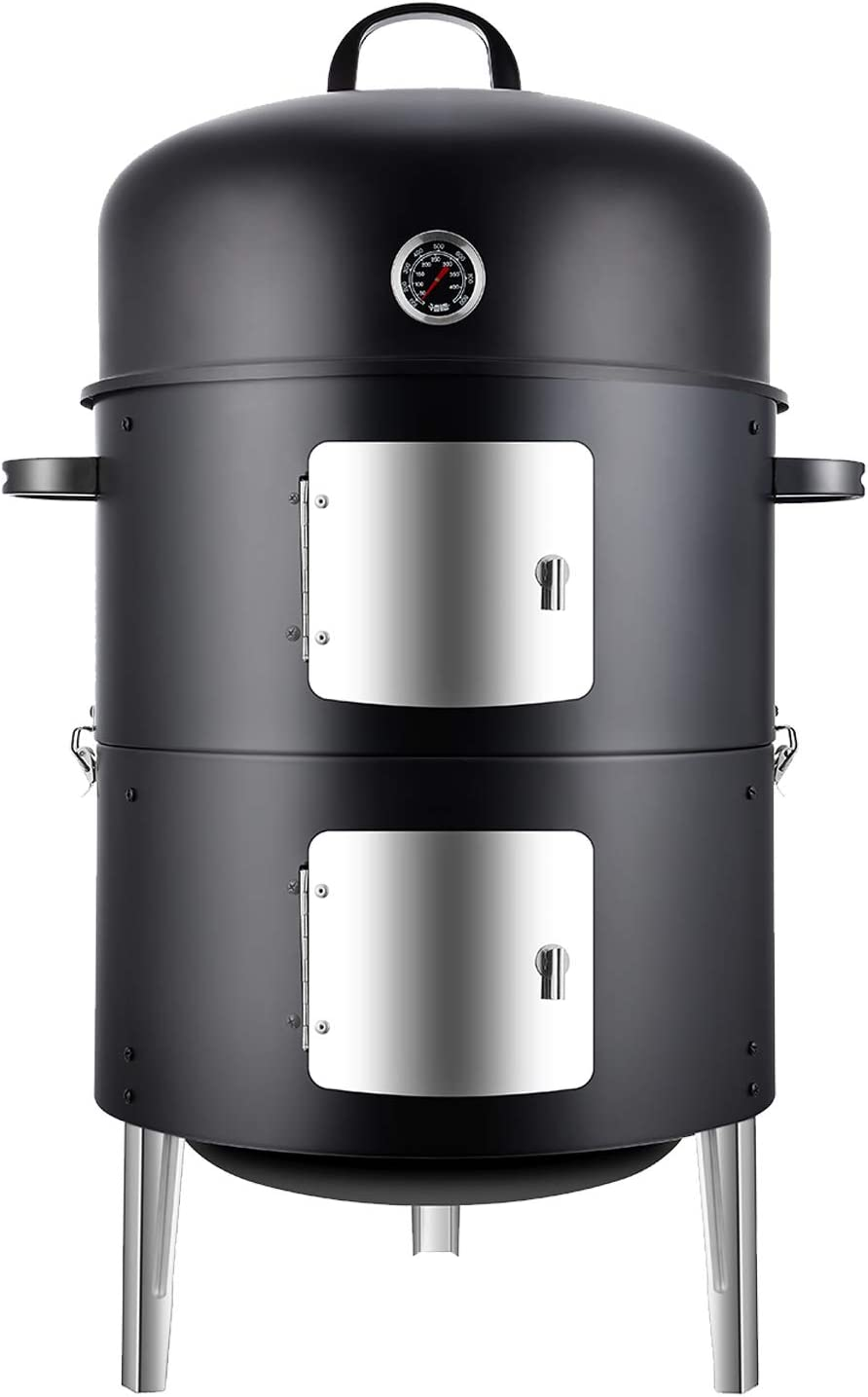 Realcook Vertical 17 Inch Steel Duty Smoker Animer and price revision Roun Heavy Attention brand Charcoal