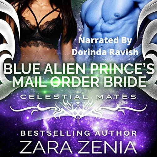 Blue Alien Prince's Mail-Order Bride (A Sci-Fi Alien Romance) cover art