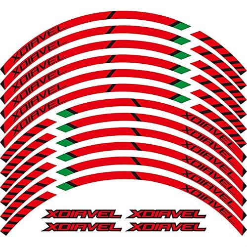 12 x Borde de Grueso Etiqueta de rumera Exterior Raya Calcomanías de Rueda para Ducati XDIAVEL X DIAVEL (Color : Dark Grey)
