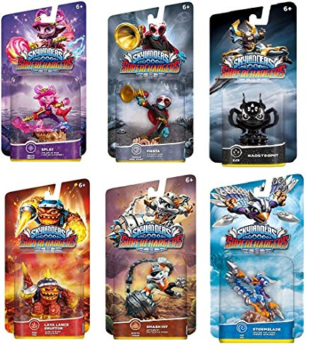 UCC Distributing Skylanders Superchargers Mystery Set of 6 Skylander Figures, No Duplicates Included