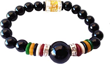 Betterdecor Feng Shui Agate Beads Six Syllables Bracelet Ward Off Evil Energies (With a Pounch)