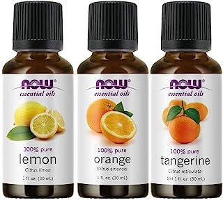 Now Foods 3-Pack Variety Of Now Essential Oils: Citrus Blend - Orange, Tangerine, Lemon