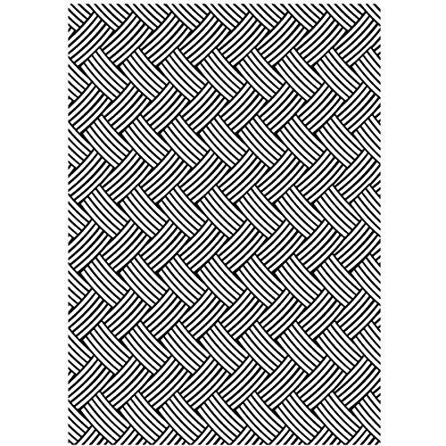 Darice Embossing Folder Cartella per Goffratura Mascherina Cestino Intrecciato, 12.7x17.8x0.3 cm