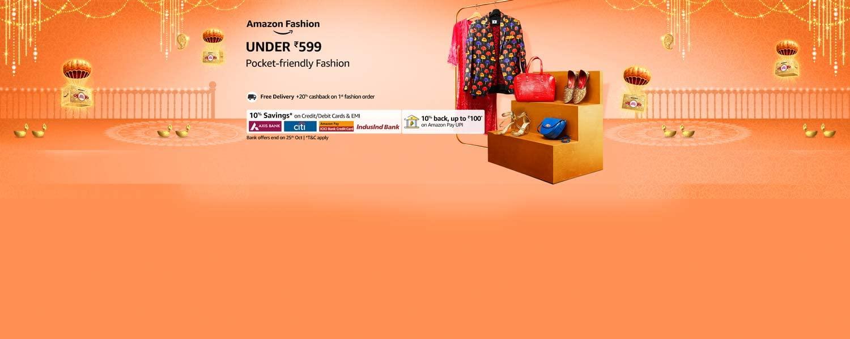amazon.in - Fashion under ₹599