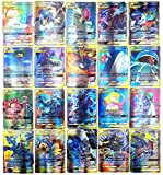 AUMIDY 100 Piezas Tarjetas Cartas Coleccionables, 95GX Cartas + 5Mega Cartas Trading Cards, Trainer Cartas, Juego de Cartas, Mejor Regalo Infantil