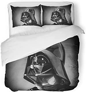 Emvency Bedding Duvet Cover Set King Size (1 Duvet Cover + 2 Pillowcase) San Benedetto Del Tronto Italy December Helmet of Replica The Costume Darth Vader Hotel Quality Wrinkle and Stain Resistant