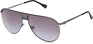 Lacoste Aviator Premium & Heritage Dark Ruthenium/Black Sunglasses For Men 62-12-140mm
