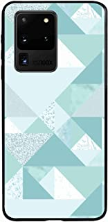 Okteq Clear TPU Protection and Hybrid Rigid Clear Back Cover Compatible with Samsung Galaxy S20 Ultra - Light blue By Okteq