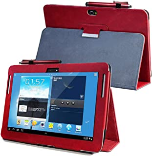 Kuesn Samsung Galaxy Note 10.1 (2012 Edition) GT N8013 N8000 Flip case Cover - SCH-I925 Folio Stand Back Book Cover for GT-N8010 N8005 N8020 Tablet pu Leather case (Red)