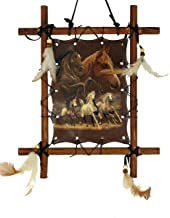 OBI Framed Horse Picture Horses Running Art 9 X 11 inch (Including Frame) Reproduction…