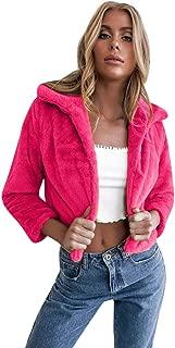 PAQOZ Womens Coat Fashion Long Sleeve Lapel Cardigans Jacket Solid Short Coat
