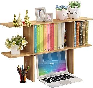 Librerías Estante para Libros Estantería pequeña Estante de Almacenamiento de Mesa Simple Estante de Escritorio estantería pequeña estantería para Estudiantes (Color : Wood Color, Size : 65x18x52cm)